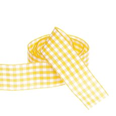 Ribbon Gingham Yellow (25mmx20m)
