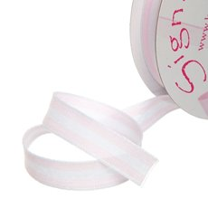 Ribbon Taffeta Stripes Baby Pink (12mmx20m)