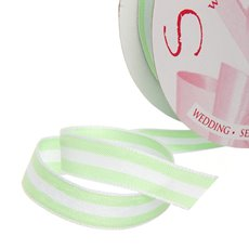 Ribbon Taffeta Stripes Mint (12mmx20m)