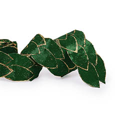 Metallic Ribbon - Leaf Shape Ribbon Green (65mmx2m)