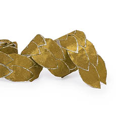 Metallic Ribbon - Leaf Shape Ribbon Yellow (65mmx2m)