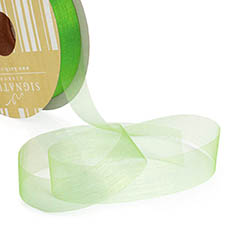 Ribbon Deluxe Organza Cut Edge Lime (25mmx50m)