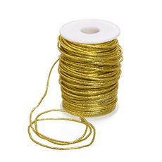 Cords - Metallic Braided Wire Cord Gold (2mmx50m)