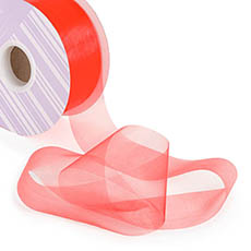 Bulk Organza Ribbon Cut Edge Red (50mmx100m)