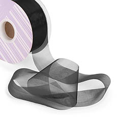 Organza Ribbons - Ribbon Deluxe Organza Cut Edge Black (50mmx50m)
