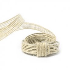 Jute Ribbons - Natural Fiber Jute Ribbon Ivory (10mmx10m)