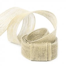 Jute Ribbons - Natural Fiber Jute Ribbon Ivory (25mmx10m)
