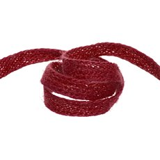 Jute Ribbons - Ribbon Natural Jute Red (10mmx10m)