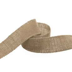 Ribbon Natural Jute Sewn Edge Natural (40mmx10m)