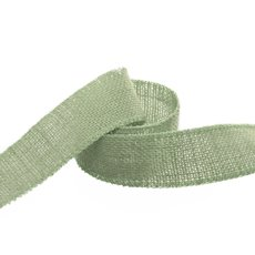 Ribbon Natural Jute Sewn Edge Sage (40mmx10m)