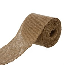 Jute Ribbons - Ribbon Natural Jute Sewn Edge Natural (100mmx10m)
