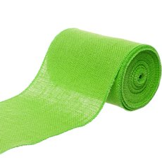 Jute Ribbons - Jute Roll Sewn Edge Lime (150mmx10m)