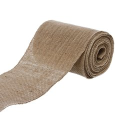 Jute Ribbons - Jute Roll Sewn Edge Natural (150mmx10m)