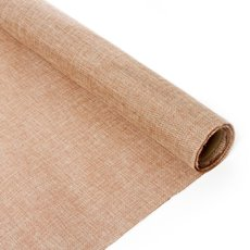 Natural Hessian Jute Wrap - Poly Flax Jute Roll Natural (50cmx2m)