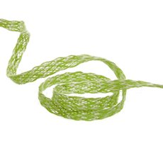 Ribbon Natural Jute Twill Duo Colours Green (10mmx10m)