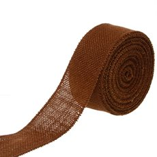 Jute Roll Sewn Edge Brown (50mmx10m)