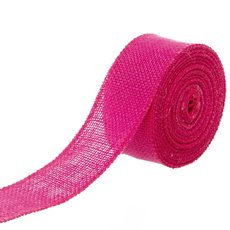 Jute Roll Sewn Edge Hot Pink (50mmx10m)