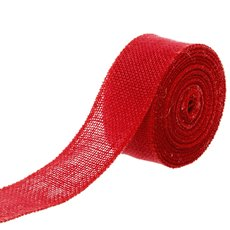 Jute Roll Sewn Edge Red (50mmx10m)