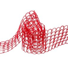 Jute Ribbons - Jute Ribbon Window Pane Red (60mmx10m)