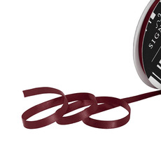 Satin Ribbons - Ribbon Satin Deluxe Double Faced Burgundy (6mmx25m)