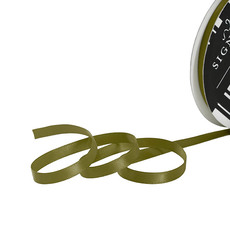 Satin Ribbons - Ribbon Satin Deluxe Double Faced Olive (6mmx25m)