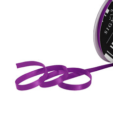 Satin Ribbons - Ribbon Satin Deluxe Double Faced Purple (6mmx25m)