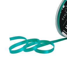 Satin Ribbons - Ribbon Satin Deluxe Double Faced Teal (6mmx25m)