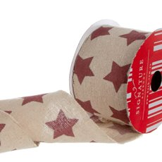 Ribbon Cotton Star Red (60mmx20m)