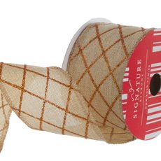 Ribbon Poly Jute Glitter Diamond Copper (60mmx10m)