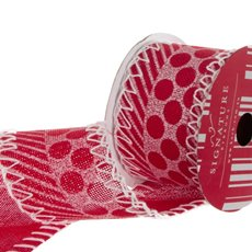Ribbon Poly Jute with Stitch Red (60mmx10m)
