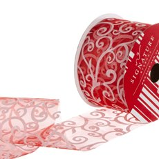 Ribbon Organza Swirl Red (60mmx20m)