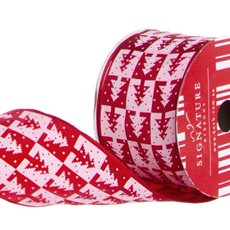Ribbon Christmas Tree Red (60mmx10m)