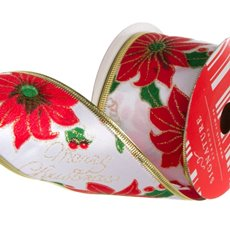 Ribbon Christmas Poinsettia (60mmx10m)