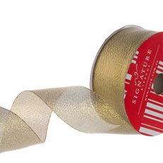 Ribbon Metallic Sheer Gold (38mmx20m)