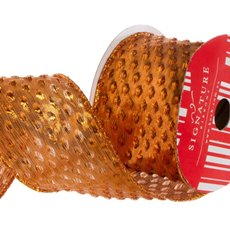 Metallic Ribbons Plain - Ribbon Metallic Dots Copper (60mmx10m)