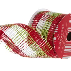 Ribbon Paper Mesh Christmas Traditional (60mmx20m)