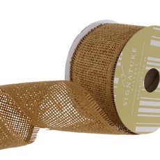 Jute Ribbons - Ribbon Paper Mesh Natural (60mmx20m)