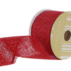 Ribbon Paper Mesh Red (60mmx20m)