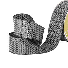 Metallic Ribbon - Ribbon Metallic Woven Diamond Silver Wired Edge  (50mmx30m)