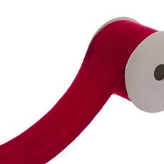 Ribbon Crushed Velvet (60mmx4.5m) Red