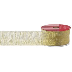Christmas Ribbons & Bows - Ribbon Woven Metallic Gold (40mmx10m)