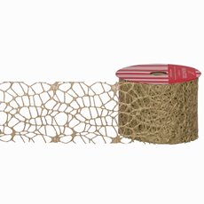 Christmas Ribbons & Bows - Ribbon Spider Mesh Gold (60mmx10m)