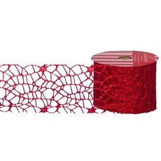 Tulle & Netting - Ribbon Spider Mesh Red (60mmx10m)