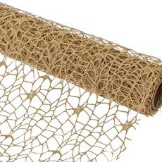 Reception Decoration - Table Runner Spider Mesh (30cmx2m) Gold