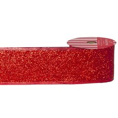 Christmas Ribbons & Bows - Ribbon Full Glitter with Sonic Edge Red (60mmx10m)