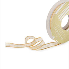 Metallic Ribbon - Ribbon Metallic Shimmer Rose Gold Wired Edge (10mmx10m)