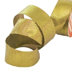 Christmas Ribbons & Bows - Ribbon Metallic Diamond Gold (40mmx10m)