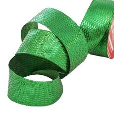 Christmas Ribbons & Bows - Ribbon Metallic Diamond Green (40mmx10m)
