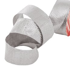 Christmas Ribbons & Bows - Ribbon Metallic Diamond Silver Wired Edge (40mmx10m)