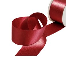Christmas Ribbons & Bows - Ribbon DF Satin Shimmer Dark Red (38mmx10m)